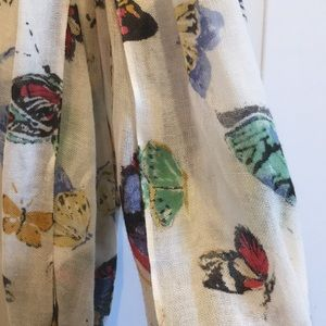 Colorful butterfly scarf